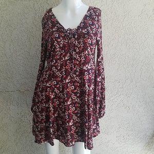Hollister Floral Bohemian Mini Dress